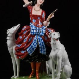 Дама с собаками, Fraureuth, Германия, до 1926 г