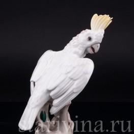 Фарфоровая статуэтка птицы Попугай какаду, Augarten Wien, Австрия, сер. 20 в.