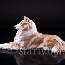 Фигурка собаки из фарфора Колли, Royal Copenhagen, Дания, вт. пол. 20 в.