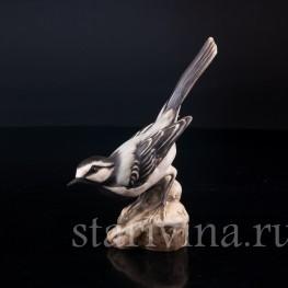 Фигурка птицы из фарфора Трясогузка, Alka Kaiser, Германия, до 1991 г.