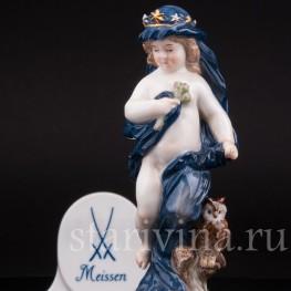 Антикварная статуэтка из фарфора Аллегория ночи, Meissen, Германия, сер. 19 - нач. 20 вв.