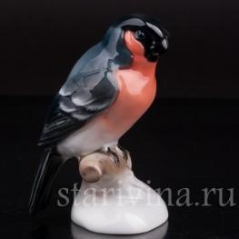 Статуэтка птицы Снегирь, Rosenthal, Германия, вт. пол. 20 в.