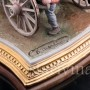 Большая композиция из фарфора Карета, Bruno Merli, Италия, сер. 20 в.