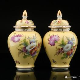 Две желтые вазы, Дрезден, Германия, кон. 19 - нач. 20 вв